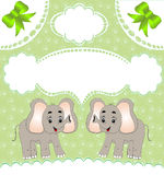 Nursery card of the announcement with elephant. Illustration nursery card of the announcement with elephant Royalty Free Stock Photo