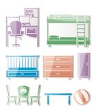 Nursery and children room objects Royalty Free Stock Images