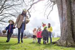Nursery Easter Egg Hunt royalty free stock image