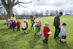 Nursery Easter Egg Hunt stock photography