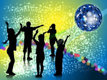 Nursery evening party in style disco Royalty Free Stock Images