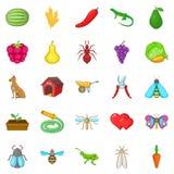 Nursery garden icons set, cartoon style. Nursery garden icons set. Cartoon set of 25 nursery garden vector icons for web isolated on white background Royalty Free Stock Photo