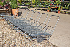 Nursery garden trolleys Royalty Free Stock Image