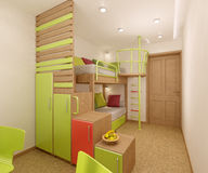 Nursery in green shades Stock Image