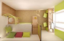 Nursery in green shades Stock Images