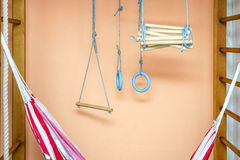 Nursery with gymnastic equipment Royalty Free Stock Image