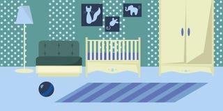 Nursery indoor flat design Stock Photos