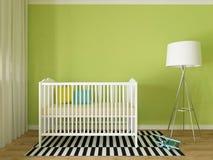 Nursery interior. A 3d image of a nursery interior, children room interior Stock Images