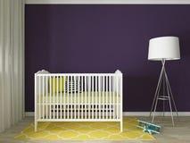 Nursery interior. A 3d image of a nursery interior, children room interior Royalty Free Stock Photo