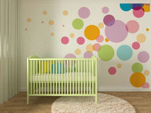 Nursery interior Royalty Free Stock Images