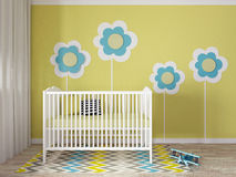 Nursery interior. A 3d image of a nursery interior, children room interior Stock Photography