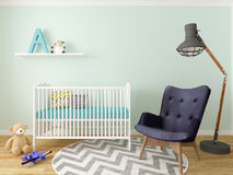 Nursery interior stock illustration