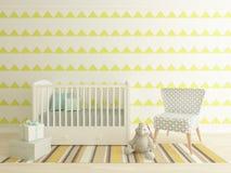 Nursery interior. A 3d image of a nursery interior, children room interior Stock Image