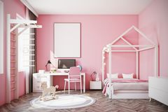 Baby girl s room with a computer Stock Photos