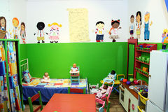 Nursery play room. In a creche Royalty Free Stock Photo