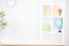 Nursery room blurred background with writting desk Royalty Free Stock Images