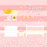 Nursery room with furniture. Baby interior. Royalty Free Stock Photography
