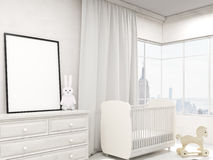 Nursery room with poster Royalty Free Stock Images