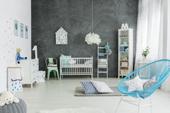 Nursery room in scandinavian style Stock Photos