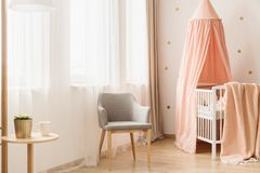 Nursery room with windows stock photos