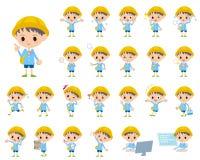 Nursery school boy. Set of various poses of Nursery school boy Stock Photography