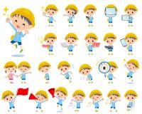 Nursery school boy 2. Set of various poses of Nursery school boy 2 Stock Images