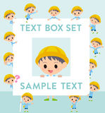 Nursery school boy text box Royalty Free Stock Image