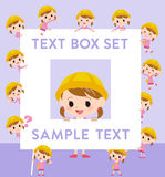 Nursery school girl text box Stock Image