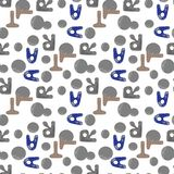 Nursery seamless pattern with Alphabet letters. Cute alphabet seamless background stock illustration