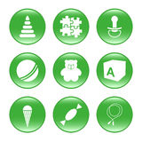 Nursery supplies - vector web icons (buttons) stock photo