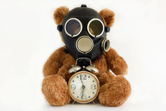 The Nursery toy in gas mask. Royalty Free Stock Photography