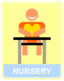 Nursery - vector icon, sign. Stock Images