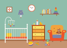 Nursery  vector interior. Royalty Free Stock Photos