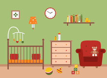 Nursery  vector interior. Royalty Free Stock Photos