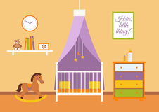 Nursery  vector interior. Stock Images