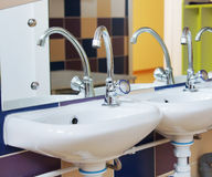 Nursery washbasins Stock Images