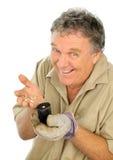 nurseryman засаживая семя Стоковое Изображение