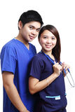 Nurses in blue uniform Stock Photo