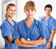 Nurses and doctor Stock Image