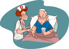 Nurses and elderly patients Royalty Free Stock Images