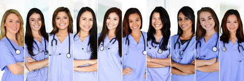 Free Nurses In Hospital Stock Photography - 65681182