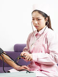 Blood pressure check Stock Photography