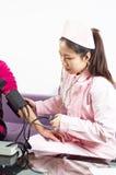 Blood pressure check Stock Image