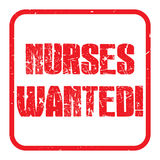 Nurses wanted Royalty Free Stock Photography