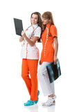 Nurses watching X Ray image Stock Image