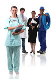 Nurse and other professionals Stock Image