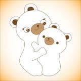 Nursing Animal Cartoon Royalty Free Stock Image