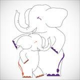 Nursing Animal Cartoon Royalty Free Stock Images