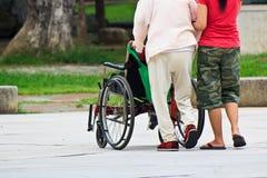 The nursing care of elderly patient Stock Photos