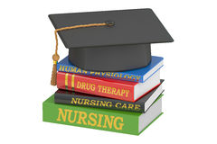 Nursing education concept, 3D rendering. On white background Royalty Free Stock Images